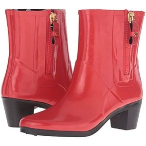 Kate Spade Penny Size 6 Red Rain Boots